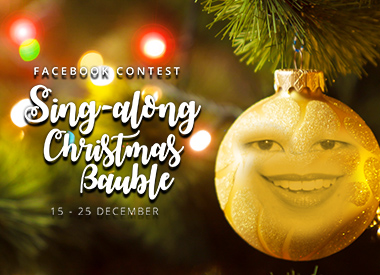 Sing-along Christmas Bauble Facebook Contest